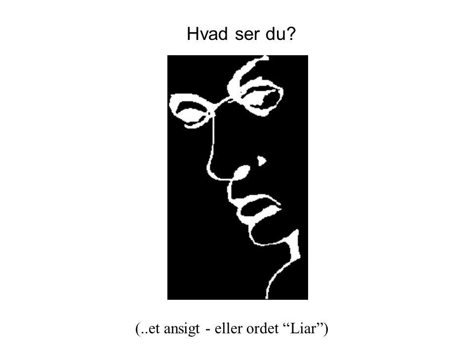 Hvad ser du (..et ansigt - eller ordet Liar )