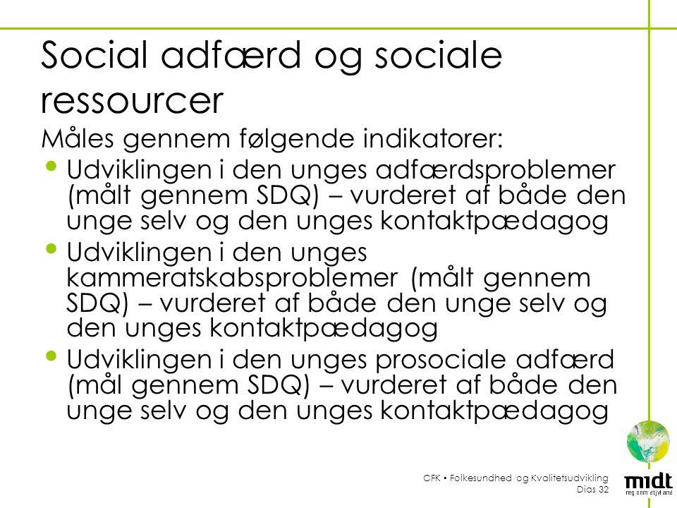 Social adfærd og sociale ressourcer