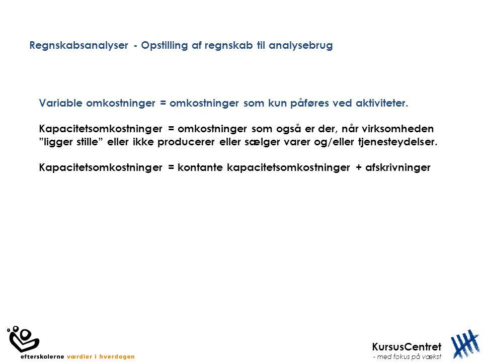Regnskabsanalyser - Opstilling af regnskab til analysebrug