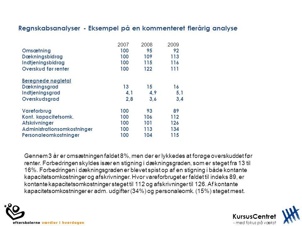 Regnskabsanalyser - Eksempel på en kommenteret flerårig analyse