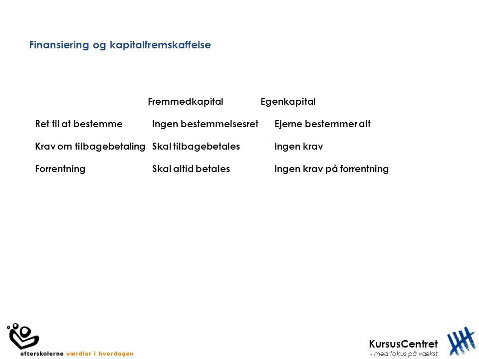 Finansiering og kapitalfremskaffelse