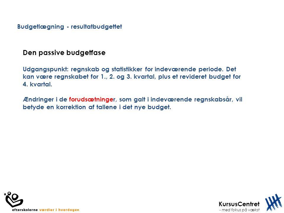 Budgetlægning - resultatbudgettet