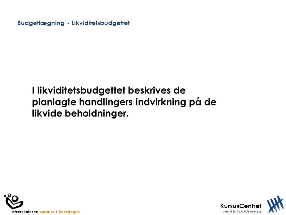 Budgetlægning - Likviditetsbudgettet
