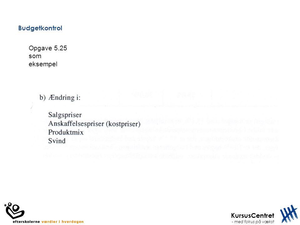 Budgetkontrol Opgave 5.25 som eksempel