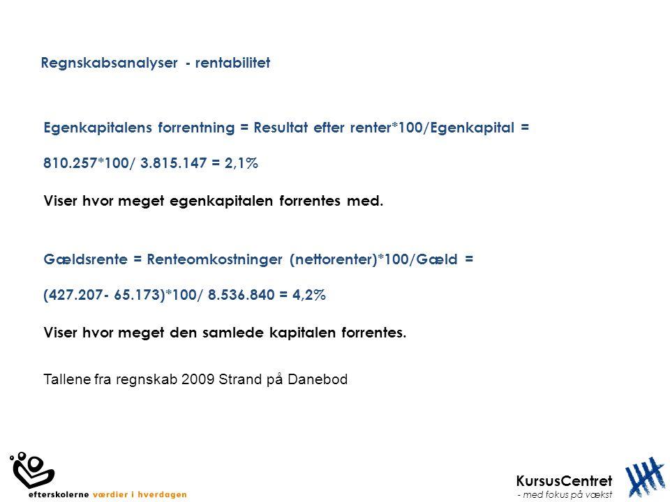 Regnskabsanalyser - rentabilitet