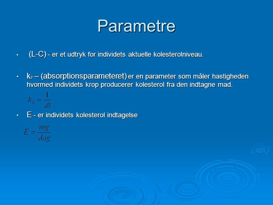 Parametre (L-C) - er et udtryk for individets aktuelle kolesterolniveau.