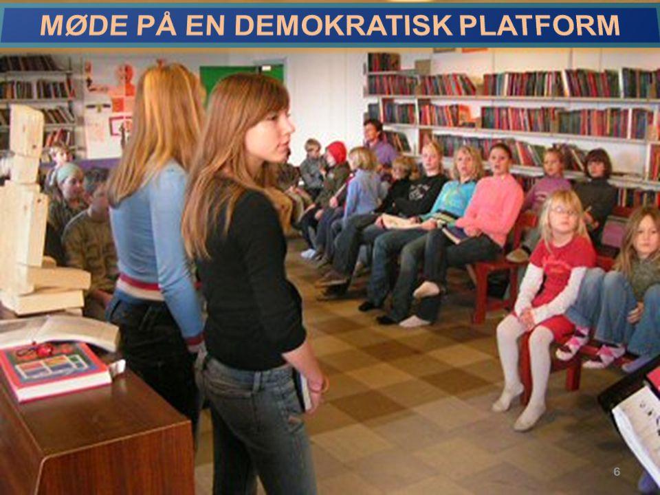 MØDE PÅ EN DEMOKRATISK PLATFORM