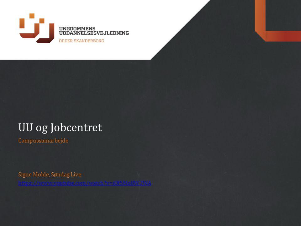 UU og Jobcentret Campussamarbejde Signe Molde, Søndag Live