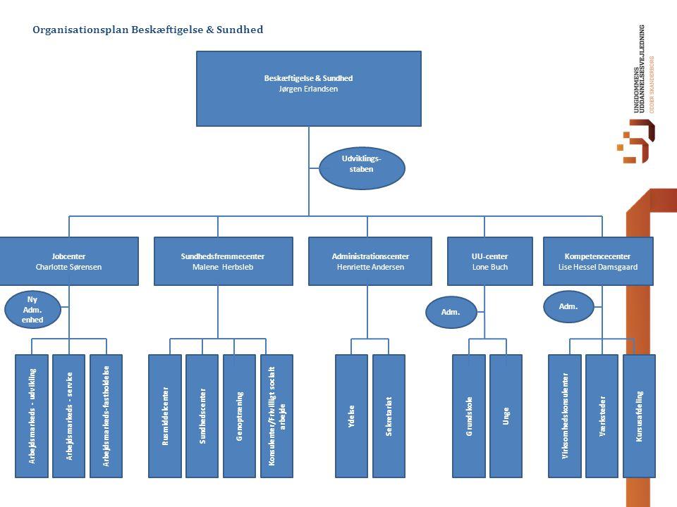 Organisationsplan Beskæftigelse & Sundhed