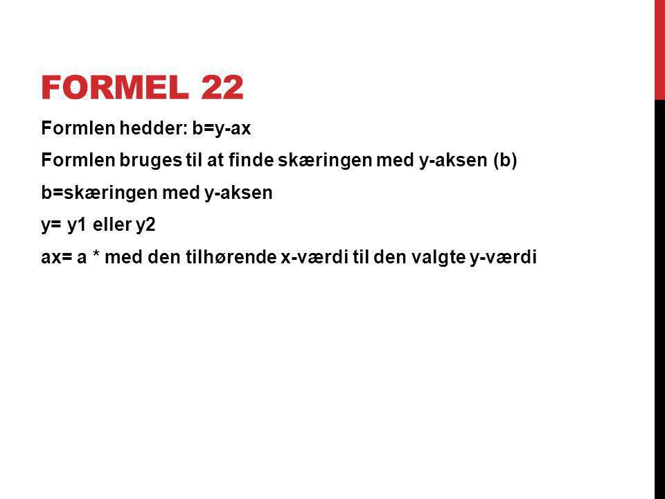 Formel 22