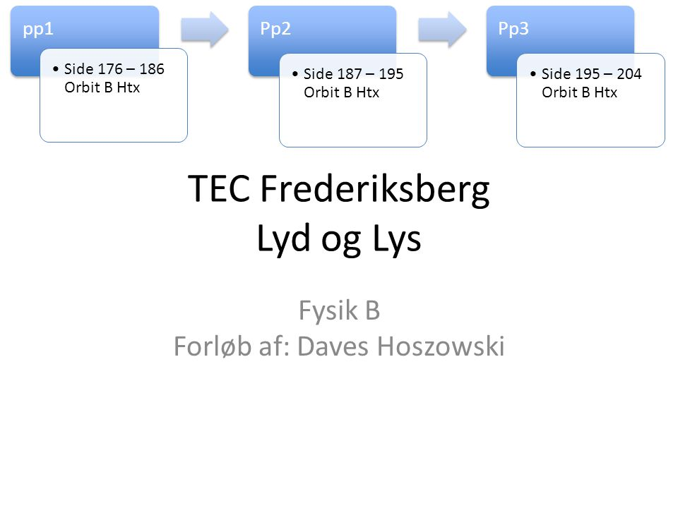 TEC Frederiksberg Lyd og Lys