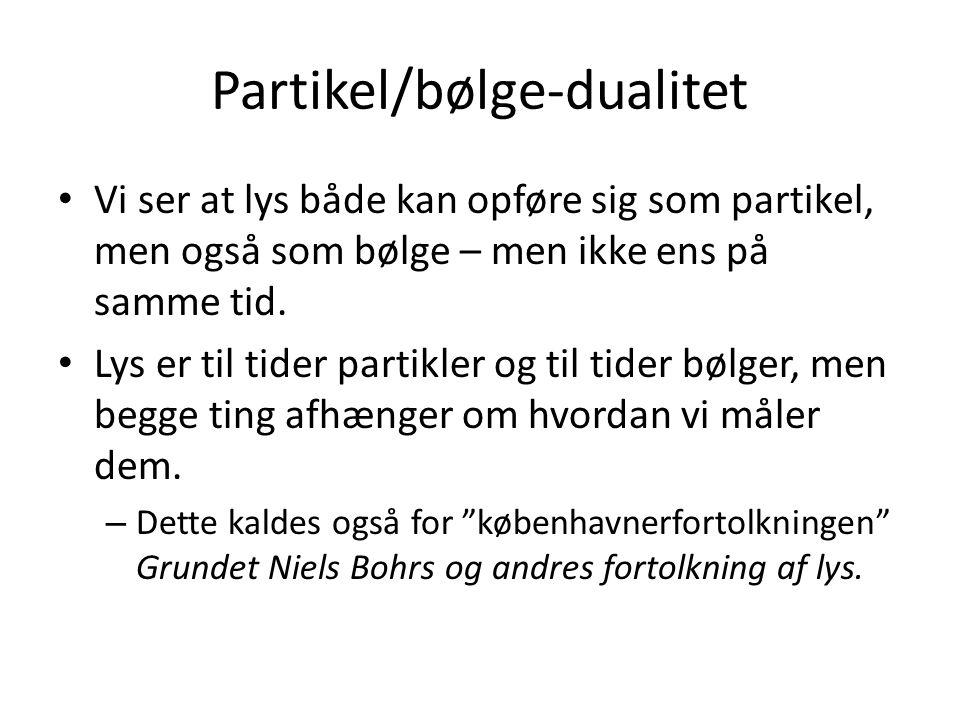 Partikel/bølge-dualitet