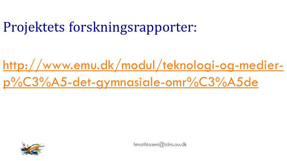 Projektets forskningsrapporter: