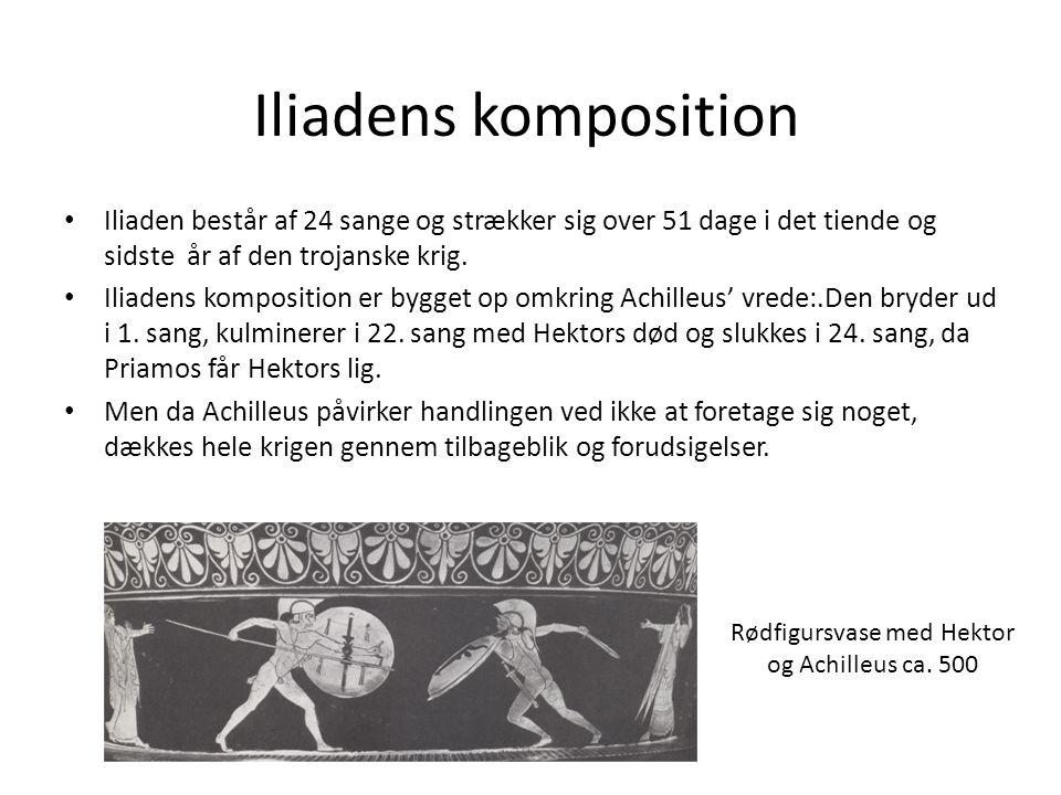 Rødfigursvase med Hektor og Achilleus ca. 500