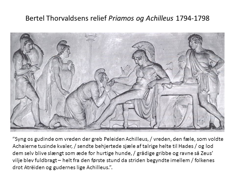 Bertel Thorvaldsens relief Priamos og Achilleus 1794-1798