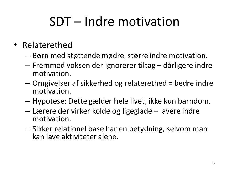 SDT – Indre motivation Relaterethed