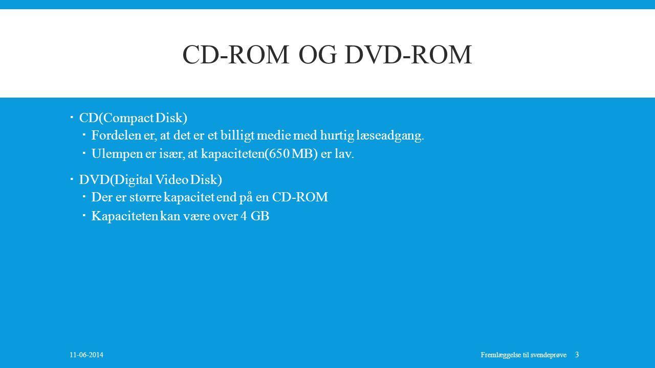 CD-ROM OG DVD-ROM CD(Compact Disk)
