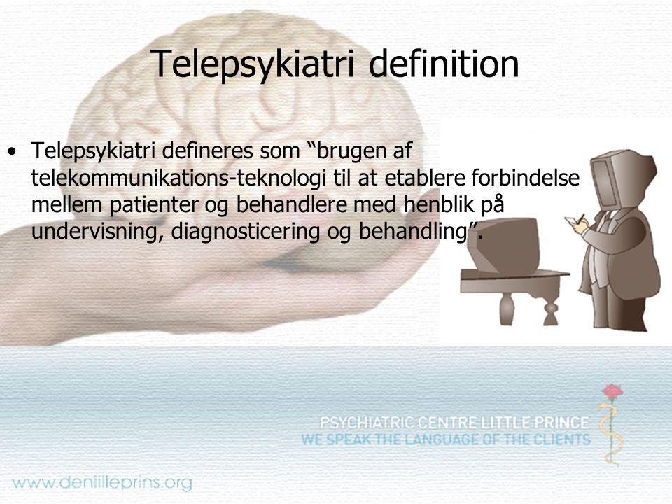 Telepsykiatri definition
