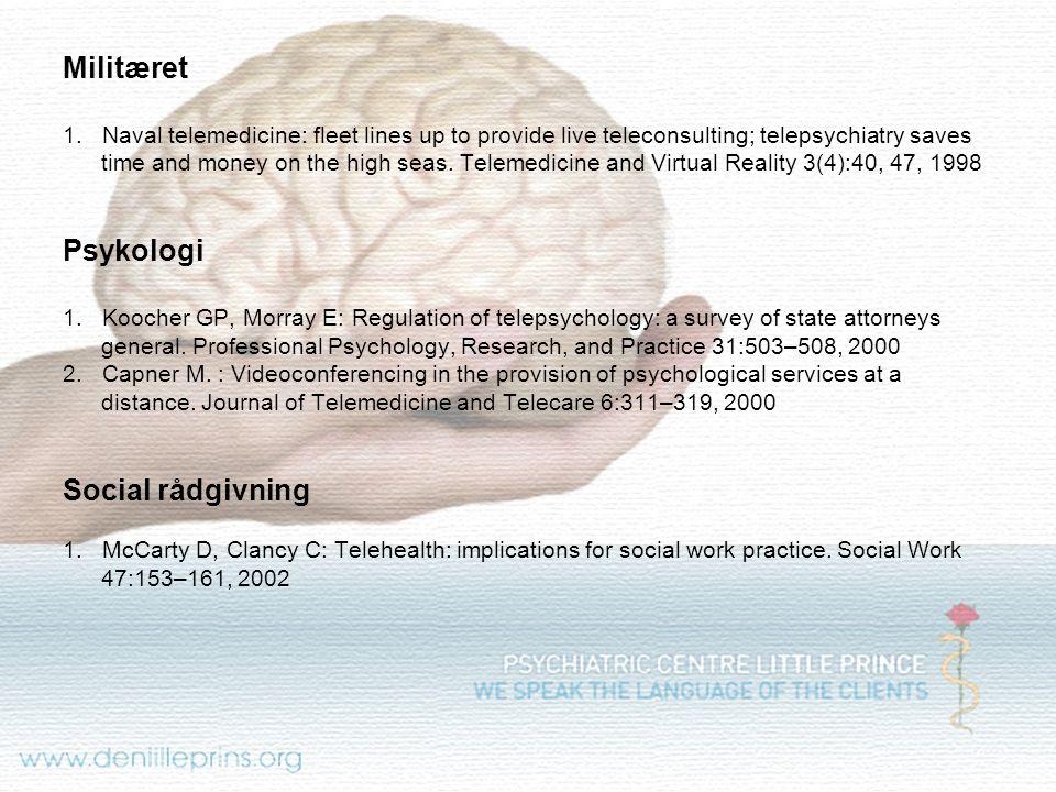 Militæret Psykologi Social rådgivning