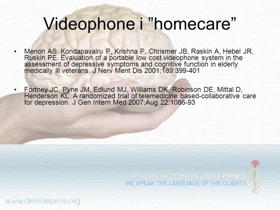 Videophone i homecare