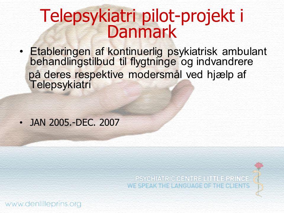 Telepsykiatri pilot-projekt i Danmark