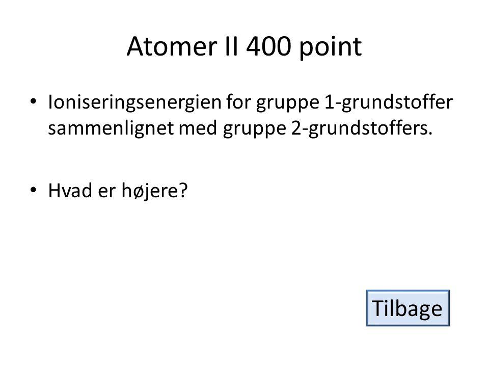 Atomer II 400 point Tilbage
