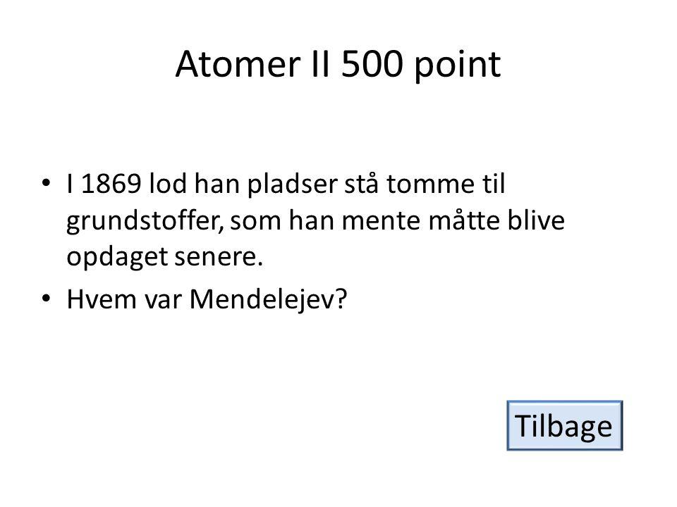 Atomer II 500 point Tilbage