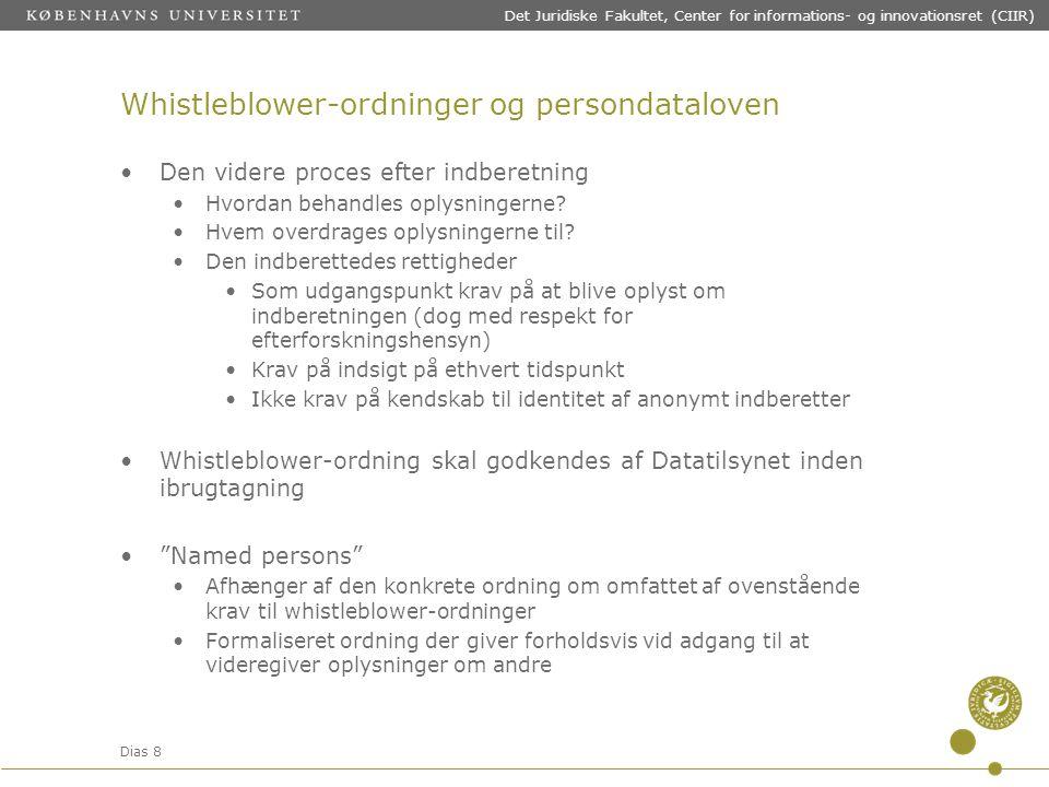 Whistleblower-ordninger og persondataloven