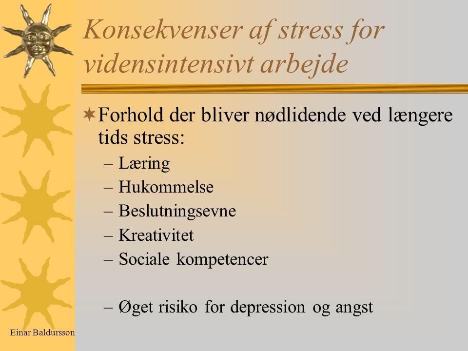 Konsekvenser af stress for vidensintensivt arbejde