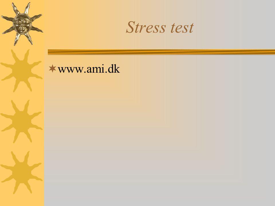 Stress test www.ami.dk