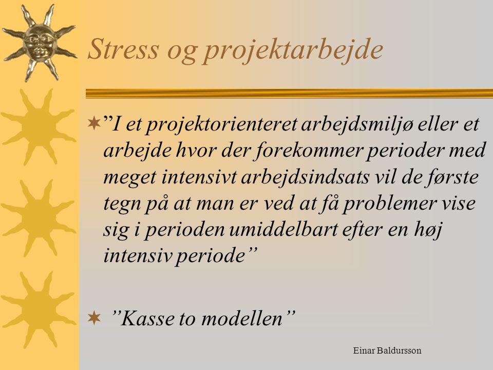 Stress og projektarbejde