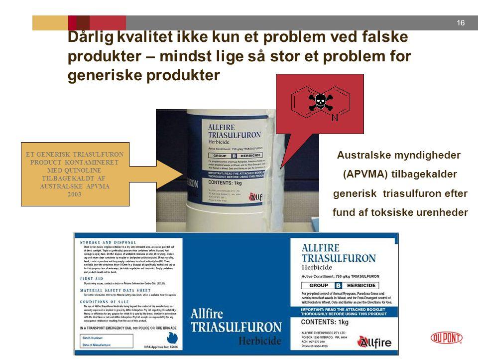 Dårlig kvalitet ikke kun et problem ved falske produkter – mindst lige så stor et problem for generiske produkter