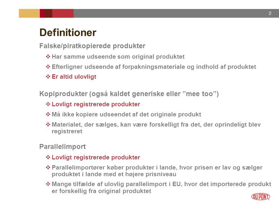 Definitioner Falske/piratkopierede produkter