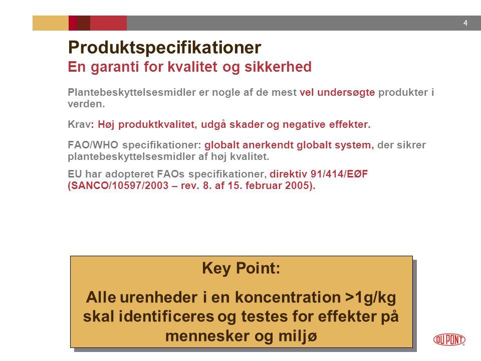 Produktspecifikationer En garanti for kvalitet og sikkerhed