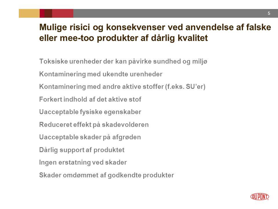 Mulige risici og konsekvenser ved anvendelse af falske eller mee-too produkter af dårlig kvalitet