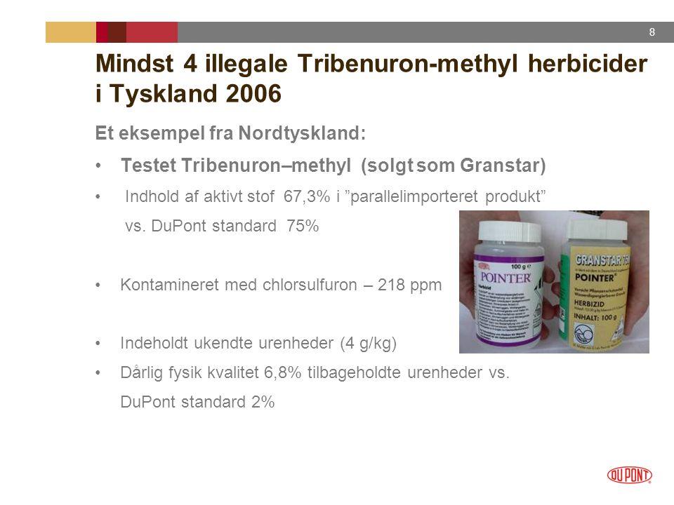 Mindst 4 illegale Tribenuron-methyl herbicider i Tyskland 2006