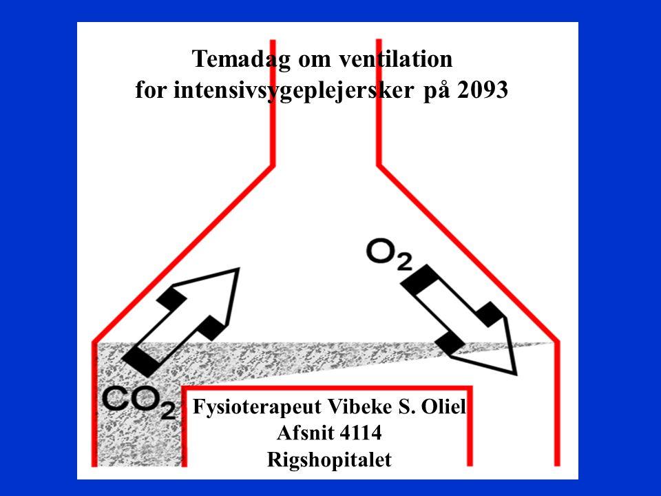 Temadag om ventilation for intensivsygeplejersker på 2093