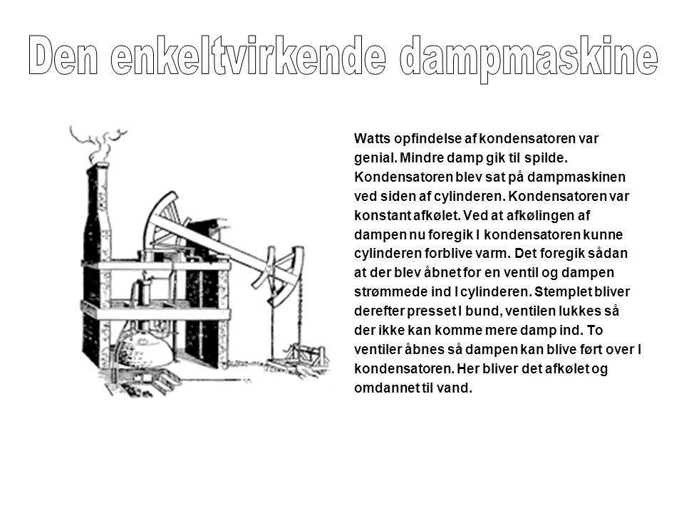 Den enkeltvirkende dampmaskine