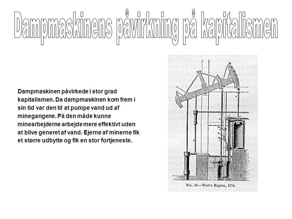 Dampmaskinens påvirkning på kapitalismen