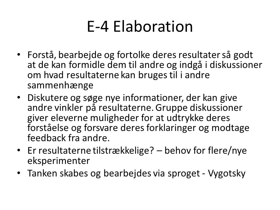 E-4 Elaboration