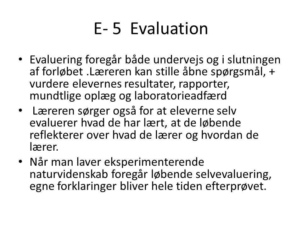 E- 5 Evaluation