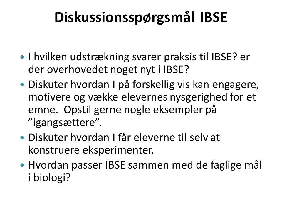 Diskussionsspørgsmål IBSE