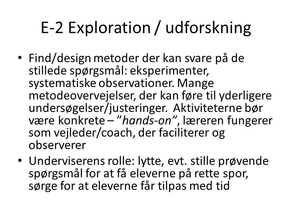 E-2 Exploration / udforskning