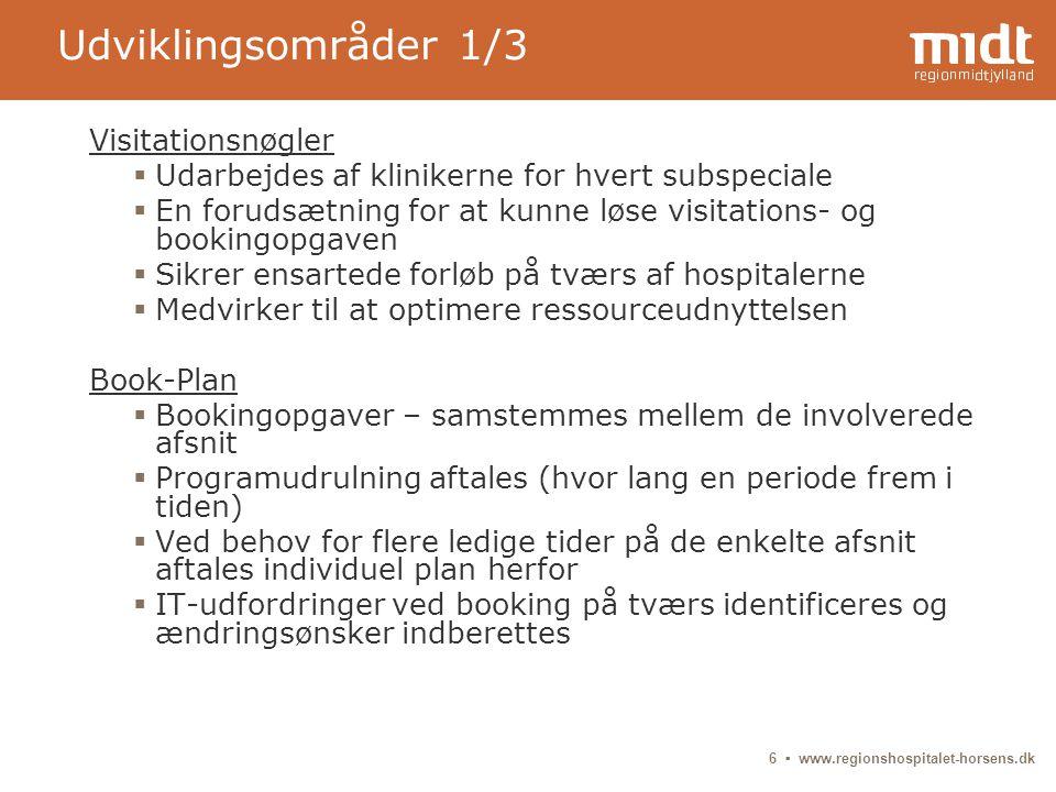 Udviklingsområder 1/3 Visitationsnøgler