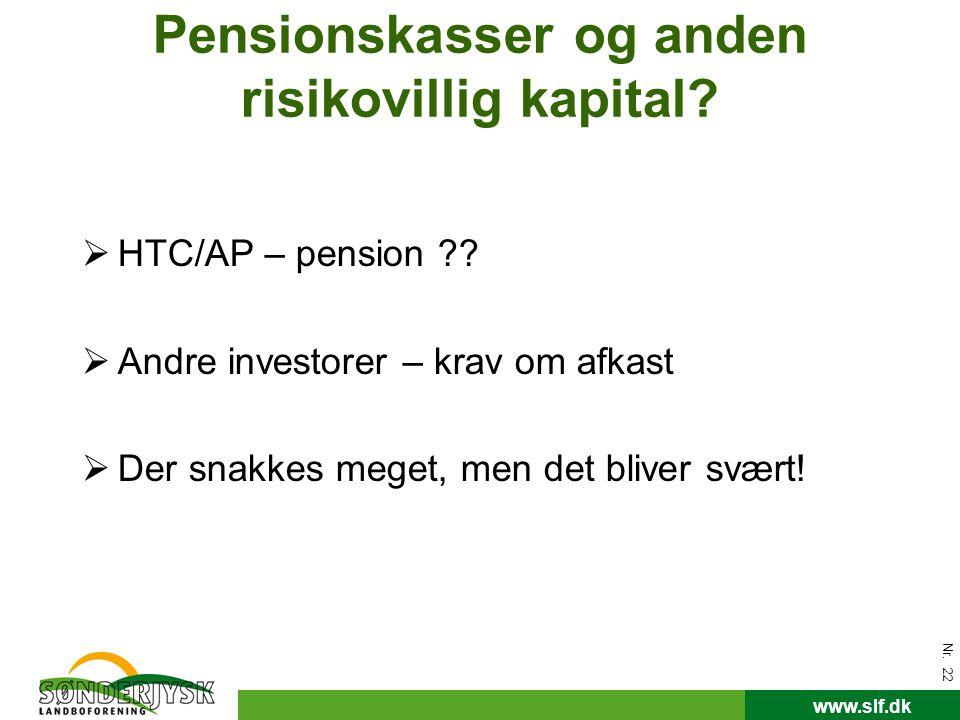 Pensionskasser og anden risikovillig kapital