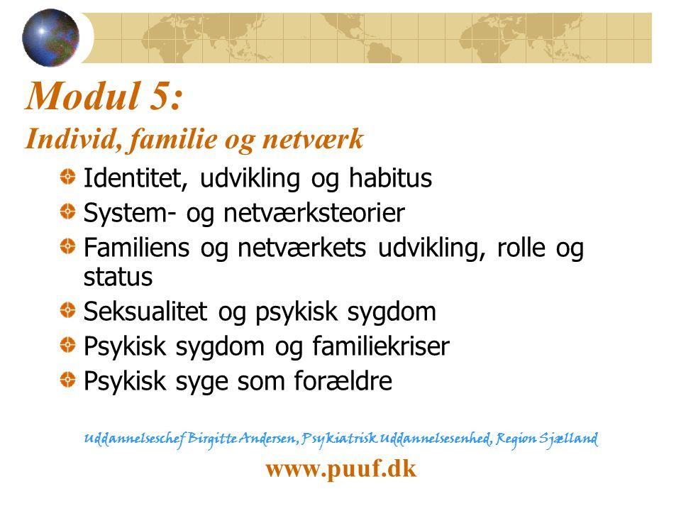 Modul 5: Individ, familie og netværk