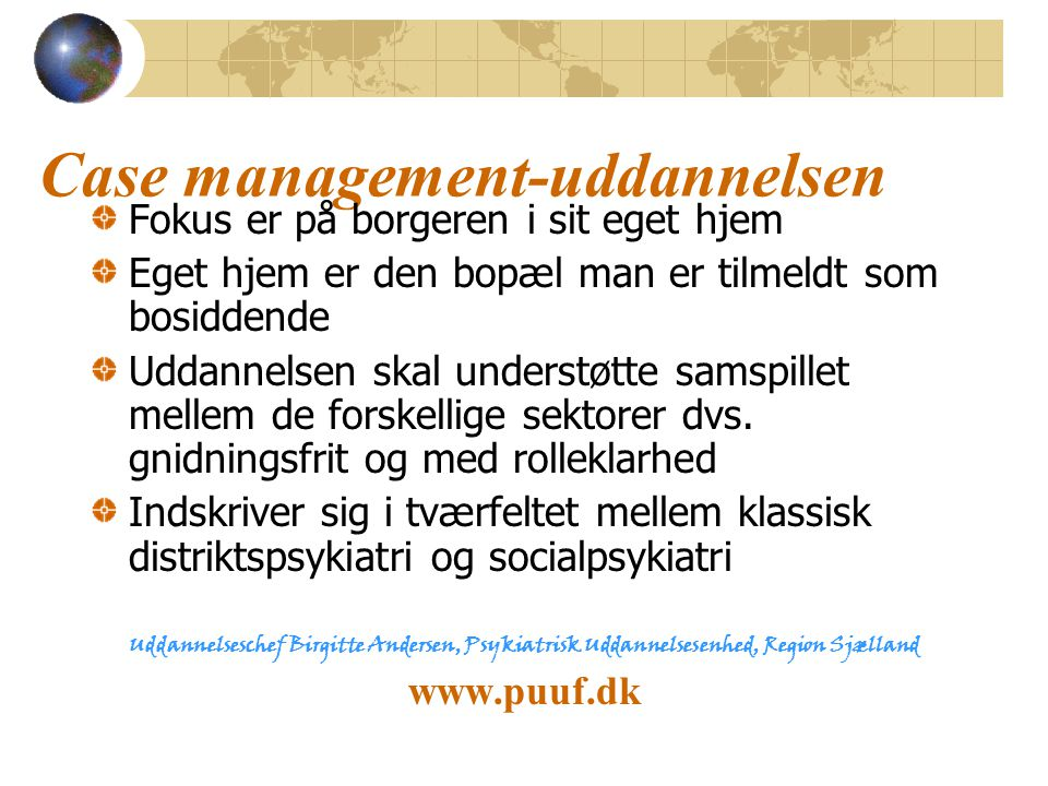 Case management-uddannelsen