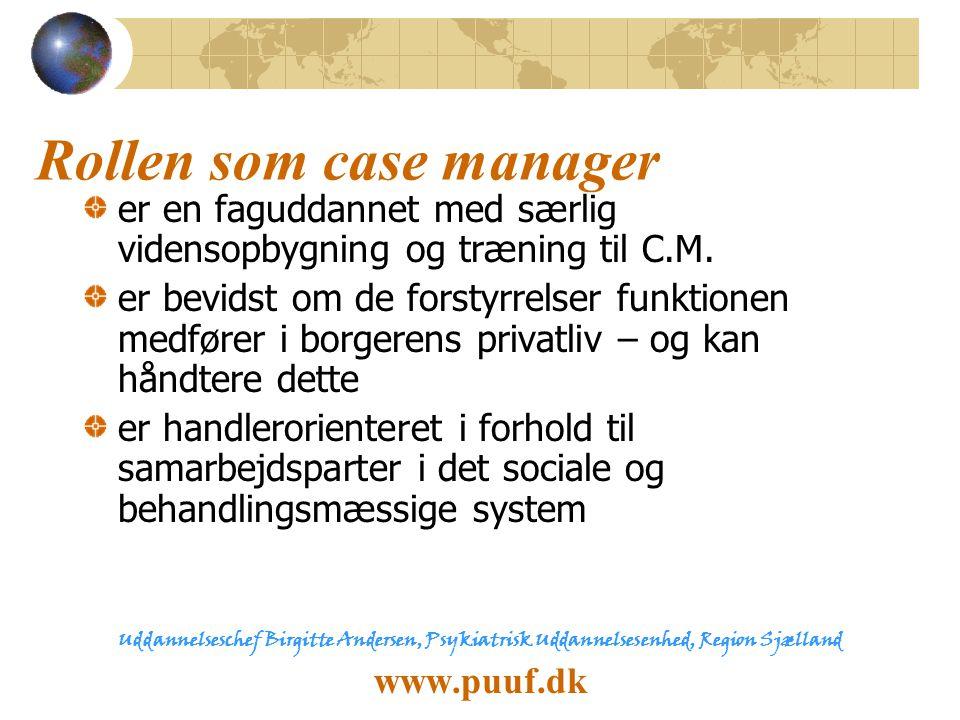 Rollen som case manager
