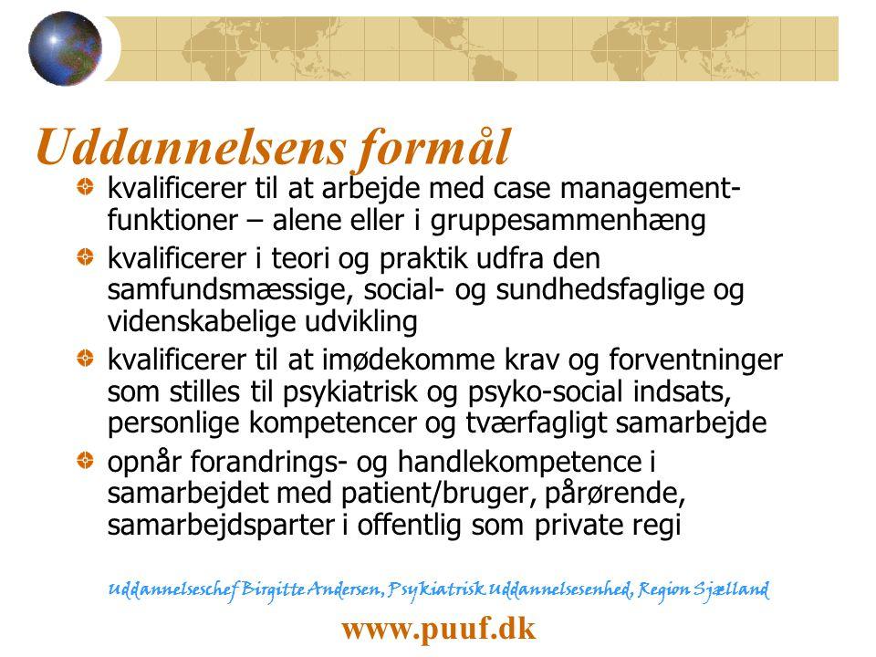 Uddannelsens formål www.puuf.dk