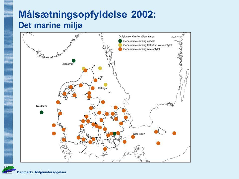 Målsætningsopfyldelse 2002: Det marine miljø